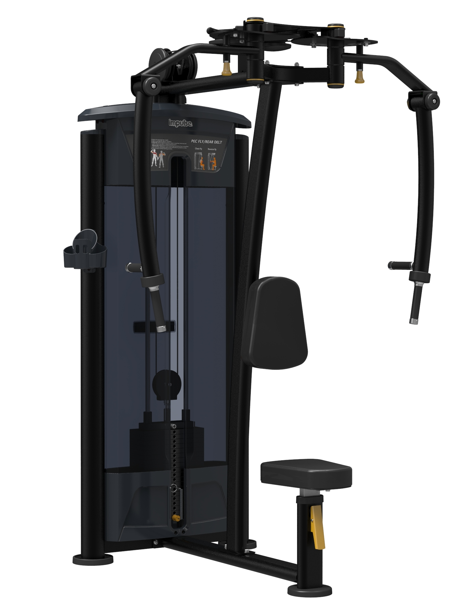 Aparat fluturari piept / deltoid IT 9515 Impulse Fitness imagine