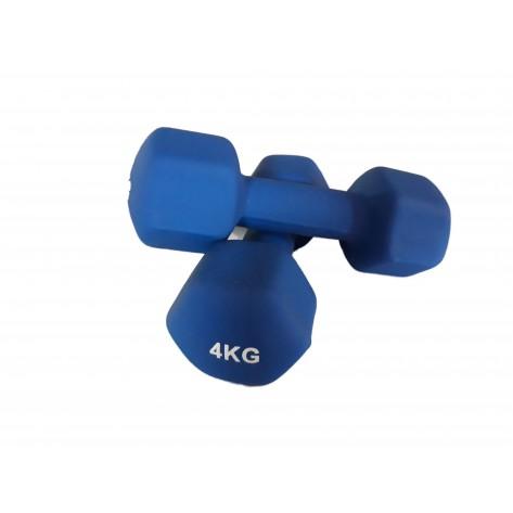 Set gantere vinil 2 x 4 kg Dayu Fitness