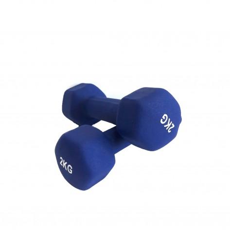 Set gantere vinil 2 x 2 kg Dayu Fitness