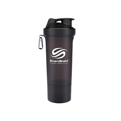 SHAKER SMART SHAKE SLIM NEGRU 500ml