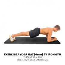 Saltea aerobic / yoga Iron Gym Essential 152 x 58 cm