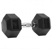 Gantera hexagonala cauciucata 2,5 - 60 kg Dayu Fitness