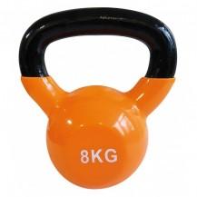 Gantera kettlebel 8 kg, portocaliu, Sveltus
