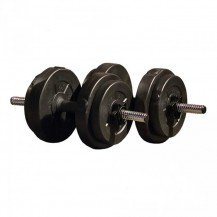 set gantere reglabile 15 kg iron gym