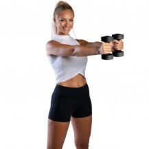 Set gantere 2x4 kg, negru, TheWay Fitness