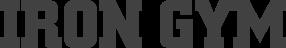 logo iron gym - producator echipamente fitness